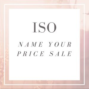 Handbags - ISO Name Your Price Sale